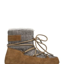 MOON BOOT, LOW FUR/TARTAN